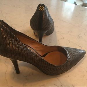 Coach metallic heels